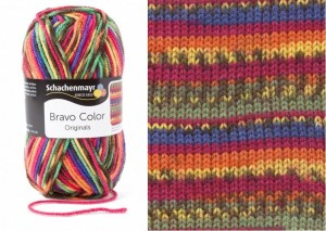 SMC BRAVO COLOR 2085 rainbow jacquard color