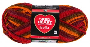RED HEART BELLA 1005 - Passion Color
