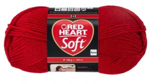 włóczka RED HEART SOFT 9925 Really Red